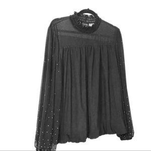 Gorgeous black Thalia Sodi blouse XL